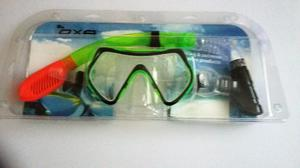 Scuba Diving Snorkel Set under water sports - fishing swimming[in green]