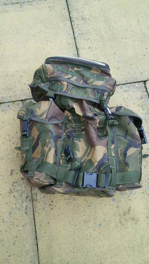 army 30ltr backpack, camo jacket and trousers