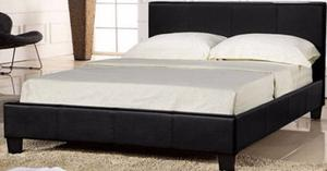 Christmas Offer Double Leather Bed Frame With Mattress,,,
