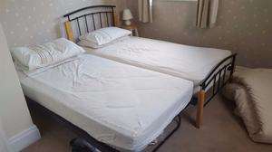 Single beds with guest bed under