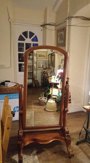 antique cheval mirror