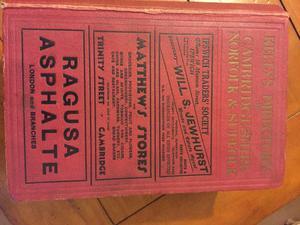 Kelly's Directory of Cambridgeshire, Norfolk & Suffolk