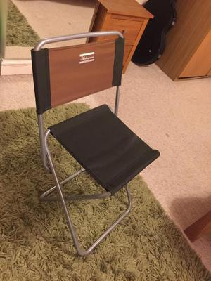 Green / Silver folding fishing or camping stool