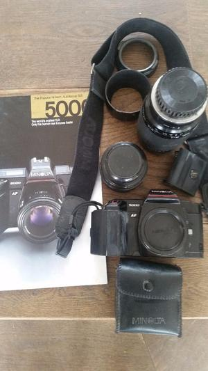 MINOLTA  camara and lenses