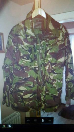 camo jacket and trousers