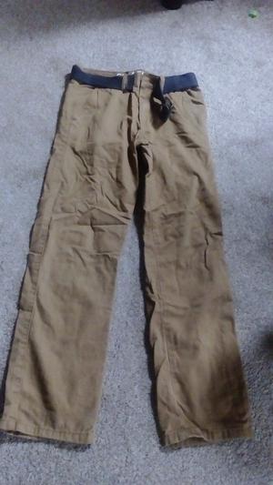 Boys mustard colour cotton trousers