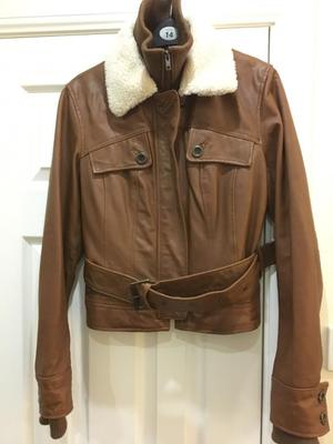 NEW LOOK ladies faux leather jacket size 12