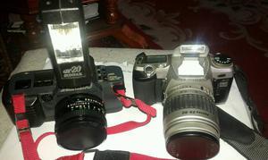 Cannon T70 & Pentax MZ-50 Cameras