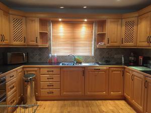 solid oak kitchen including appliances for sale