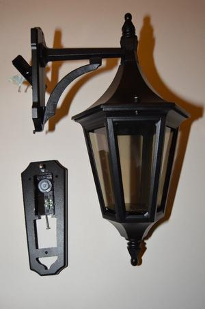 OUTDOOR JAVA BLACK WALL LANTERN ANTIQUE STYLE OUTDOOR WALL LIGHT