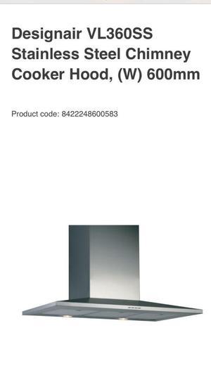 Designair 600mm stainless steel cooker hood