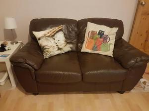 2 x 2 seater sofas + pouffe