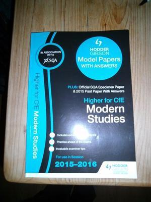 Model essays for higher modern studies
