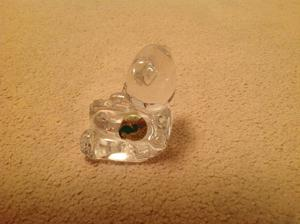 Waterford Crystal Bear and ABC Block