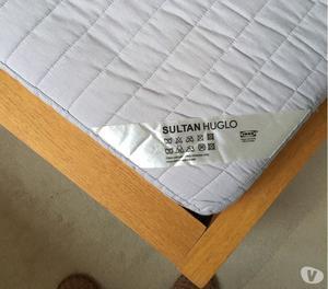 Ikea Malm Double Bed & Ikea Sultan Huglo mattress