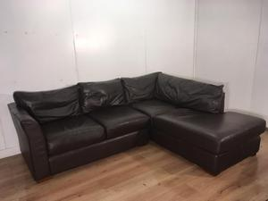 brown real leather corner sofa with free delivery posot clas