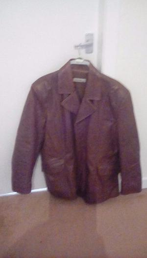 Leather jacket mens size l or xl