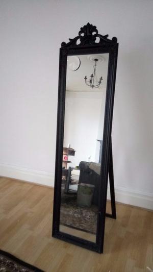 Dressing cheval tall mirror black