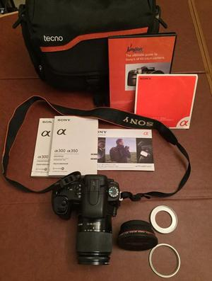 Sony Alpha A350 Camera with accessories