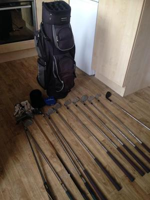 Golf clubs bag and accessories