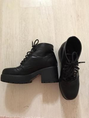 topshop billy buckle boots real leather size 5 posot class