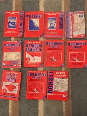 Job lot - Dorset and surrounding maps/street maps/book