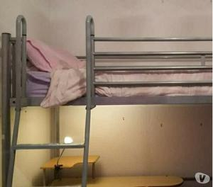 High Bed With Futon Desk And Storage In Posot Class