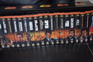 JAMES BOND 007 COLLECTION 19 MOVIE VIDEOS INCLUDED