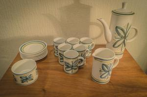 Vintage Retro Mid Century Pottery Coffee Set