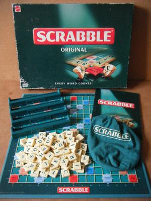 (Scrabble Original) word game. By Mattel . Complete.