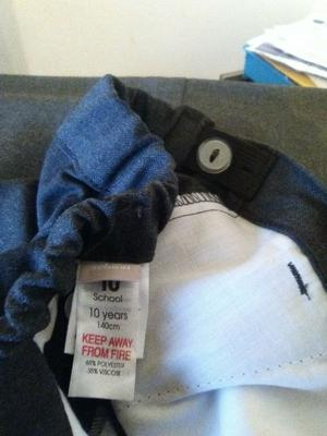 Brand new 2 pairs of grey school trousers
