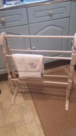 white shabby chic vintage clothes rail posot class