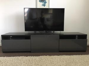 ikea besta tv stand cabinet blaskbrown posot class. Black Bedroom Furniture Sets. Home Design Ideas