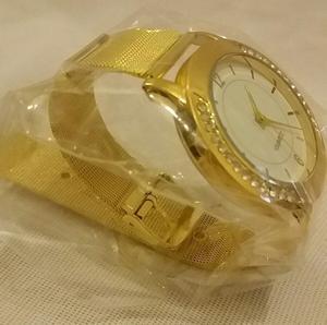 Stylish Ladies Watch Luxury Fashion Women Crystal Gold