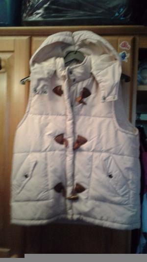 New Look womens hooded vest sleeveless jacket light pink size 12