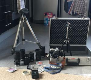 Vintage Olympus om10 camera &lenses