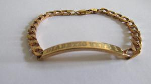9ct gold medical alert bracelet