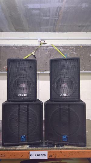 Professional Bass Bin Hog Scoop Soundsystem Plywood ... |Scoop Bass Bins