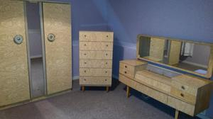 retro bedroom set from 60s -70s. wardrobe, drawer