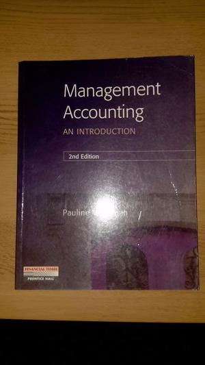 Management Accounting - Pauline Weetman