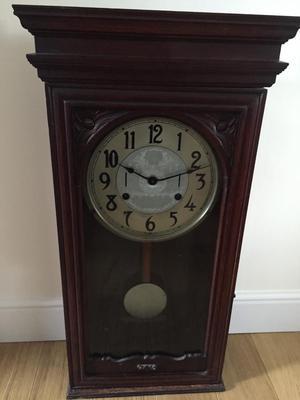antique swedish gild wood cartel wall clock posot class
