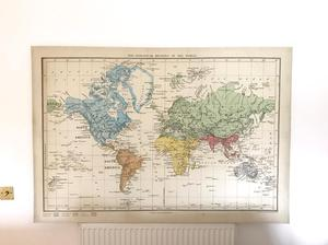 ikea premiar canvas world map posot class. Black Bedroom Furniture Sets. Home Design Ideas