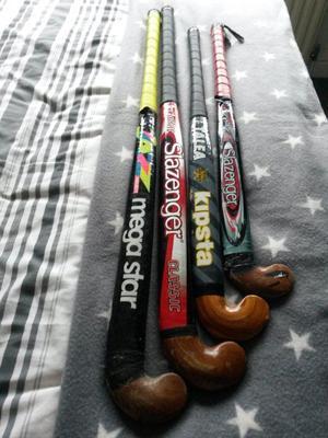 various hockey sticks