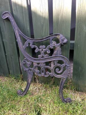 Victorian Cast Iron Bench Ends In Grimsby Posot Class