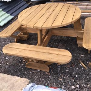 Outdoor pub bench