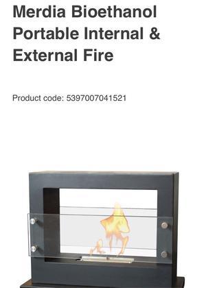 Indoor and outdoor bio-ethanol fire