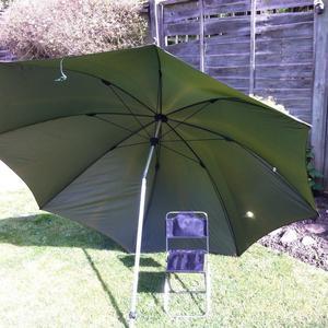 tilt fishing umbrella with free mini fishing stool