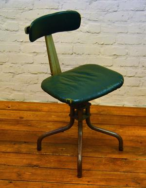 Evertaut Industrial Metal Machinist Swivel Chair Posot Class