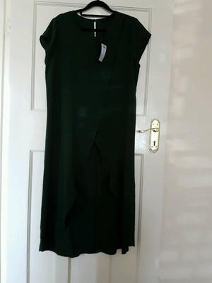 Brand new long open front dress