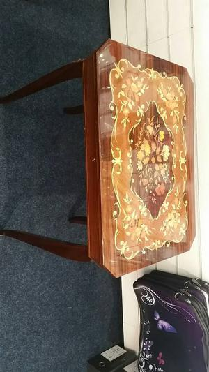 Italian inlaid wooden musical table
